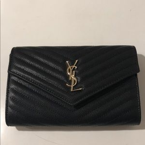 💖New YSL Black Chain Crossbody leather purse